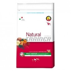 Natural Trainer Medium kg 12,5 Manzo Riso e Ginseng